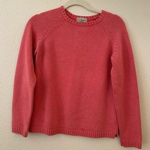 L.L. Bean Marled Salmon Pink Sweater
